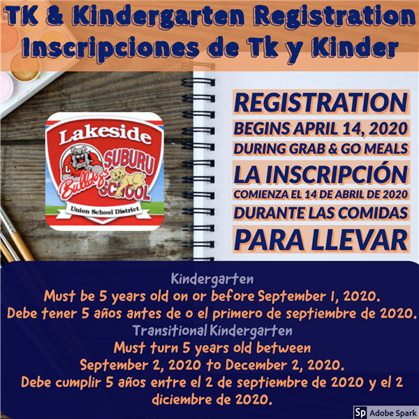 Kindergarten Registration Info Flyer